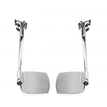 Swing-Away Footrests for use with Bariatric Sentra EC Heavy Duty Extra Wide