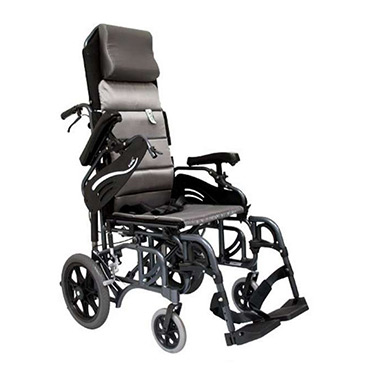 Karman Lightweight Tilt-In-Space Foldable Transport Wheelchair