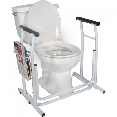 Toilet / Commode Safety Rail with Foam Handles by Drive Medical