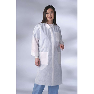 Traditional Collar Multi-Layer Lab Coat