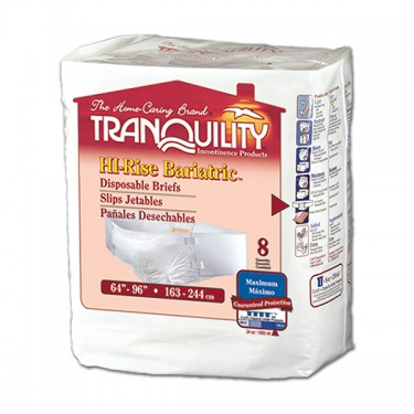 Tranquility HI-Rise Bariatric Disposable Brief