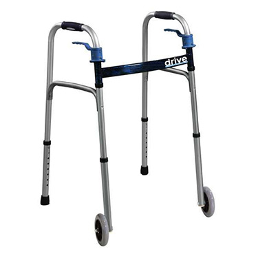 Trigger Release Folding Walker by Drive Medical with 5