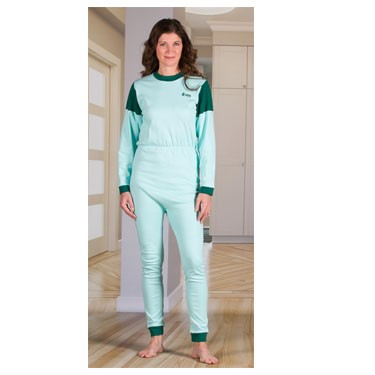 Unisex Anti-Strip Jumpsuit with a Zipper-Back, Long Legs, and Long Sleeves by 4Care