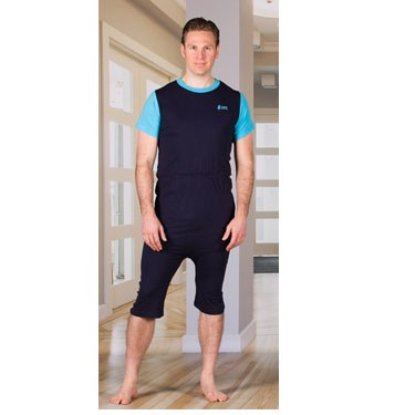 Unisex Anti-Strip Jumpsuit with Zipper-Back, Short Legs, and Short Sleeves by 4Care