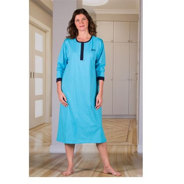 Unisex Nightshirt with Fold in the Back by 4Care