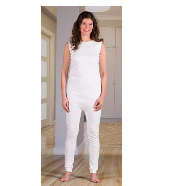 Unisex Sleeveless Bodysuit with Long Legs, Zippered Back by 4Care