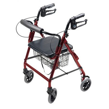 Walkabout Four-Wheel Hemi Rollator By Lumex