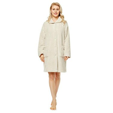 Women's Long Cardigan Indoor Outdoor Home Bed Jacket Robe