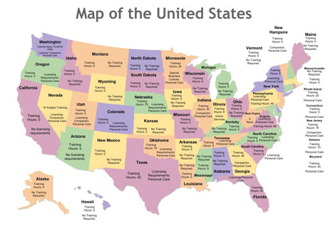 caregiver requirements by state