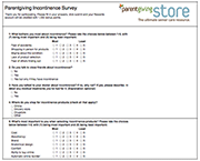 incontinence survey