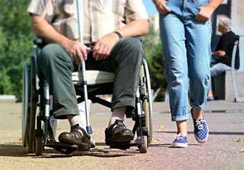 Caring for a disabled senior