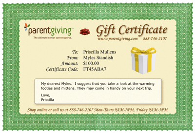 Parentgiving Gift Certificates